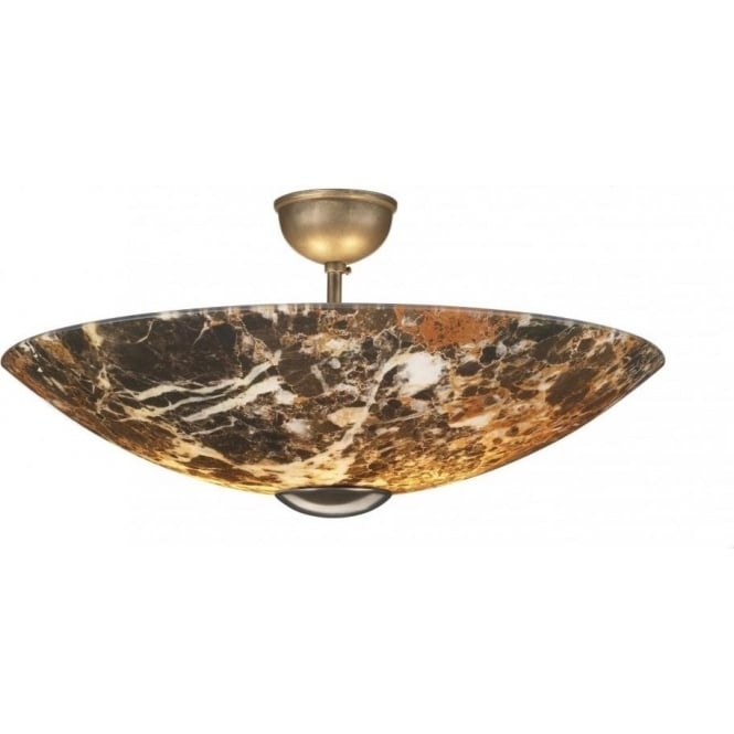 David hunt lighting savoy 2 light dark marble effect semi flush savoy 2 light dark marble effect semi flush fitting with bronze finish mozeypictures Image collections