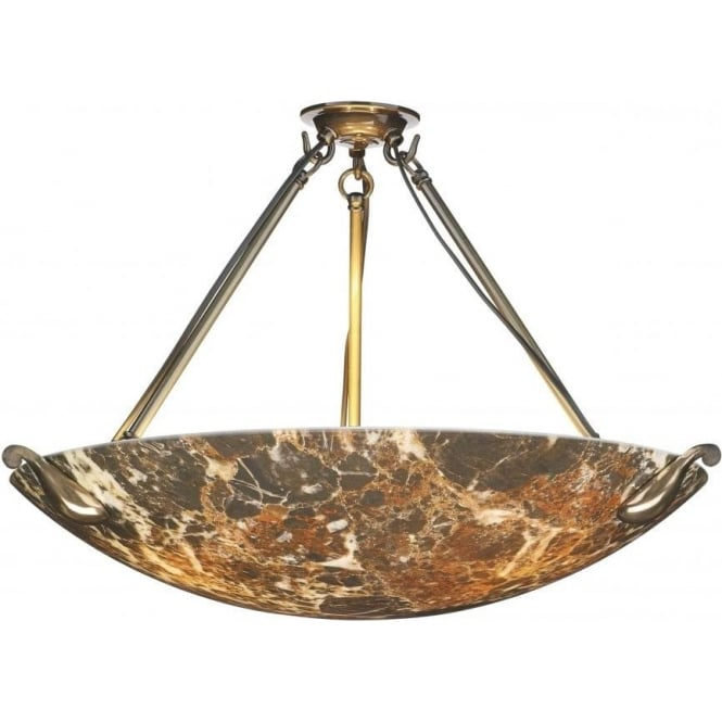 David hunt lighting savoy large 3 light pendant with dark marble savoy large 3 light pendant with dark marble effect glass and bronze finish mozeypictures Gallery