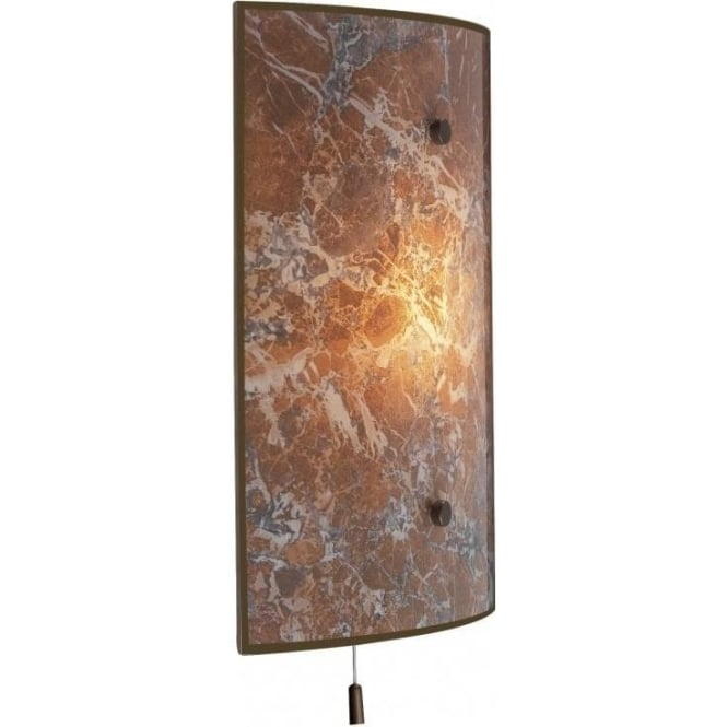 David Hunt Lighting Savoy Light Marble Effect Glass Single Light Switched Wall Fixture