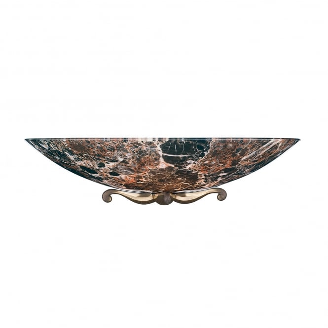 David Hunt Lighting Savoy Single Light Dark Marble Wall Washer With Bronze Detail