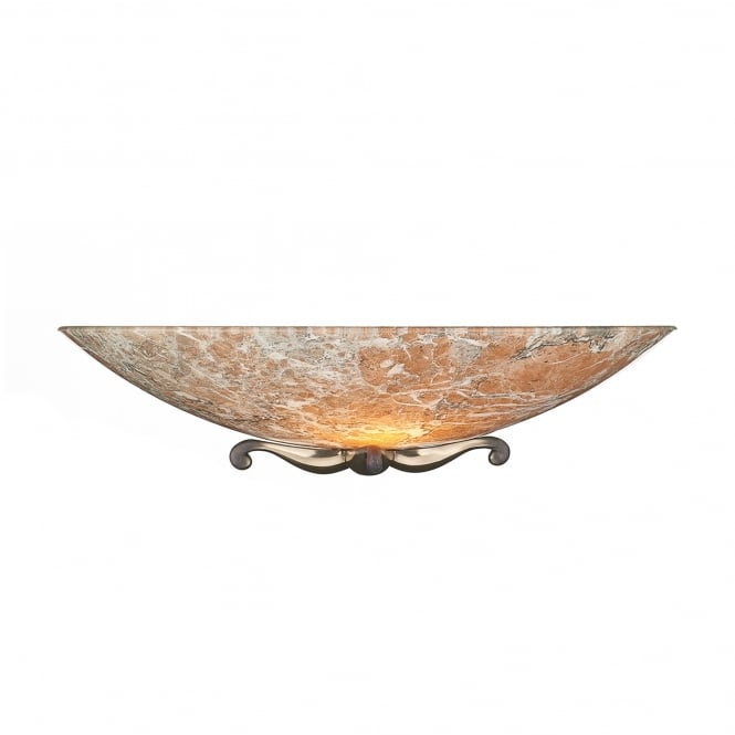 David Hunt Lighting Savoy Single Light Marble Wall Washer With Bronze Detail