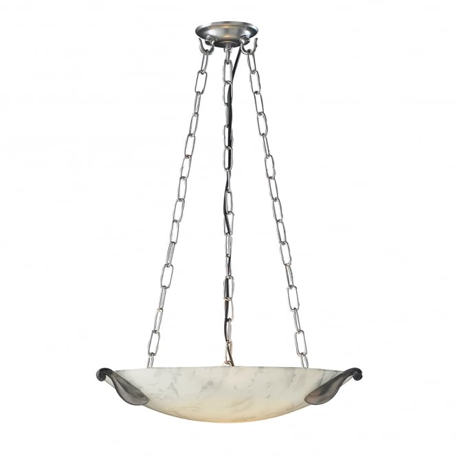 David Hunt Lighting Savoy Single Light White Marble Ceiling Fitting