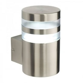 Morse Single Light Outdoor Wall Fitting In Brushed Stainless Steel Finish