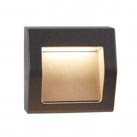 0221GY Ankle Outdoor LED Wall Fitting In Dark Grey Finish