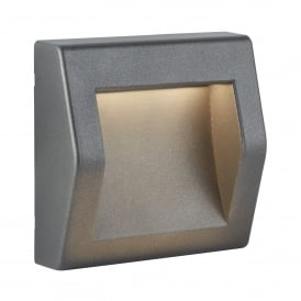 0232GY Ankle Outdoor Large LED Wall Fitting In Dark Grey Finish