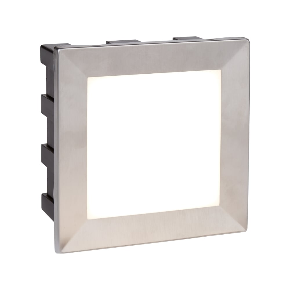 6d2fecf6e7c8 Searchlight Lighting 0763 Ankle LED Outdoor Recessed Large Square Step light  In Stainless Steeel Finish With Opal White Diffuser Product Code: 0763