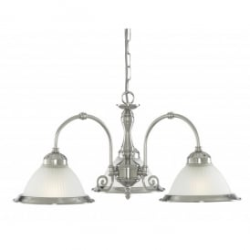 1043-3 American Diner Satin Silver 3 Light Fitting