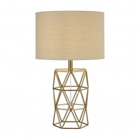 1251GO Skandi Single Light Table Lamp in Gold Finish