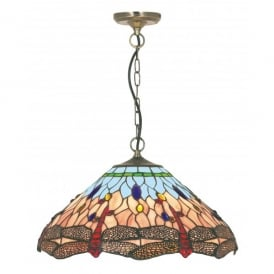 1283-16 Dragonfly Tiffany Pendant Light Fitting