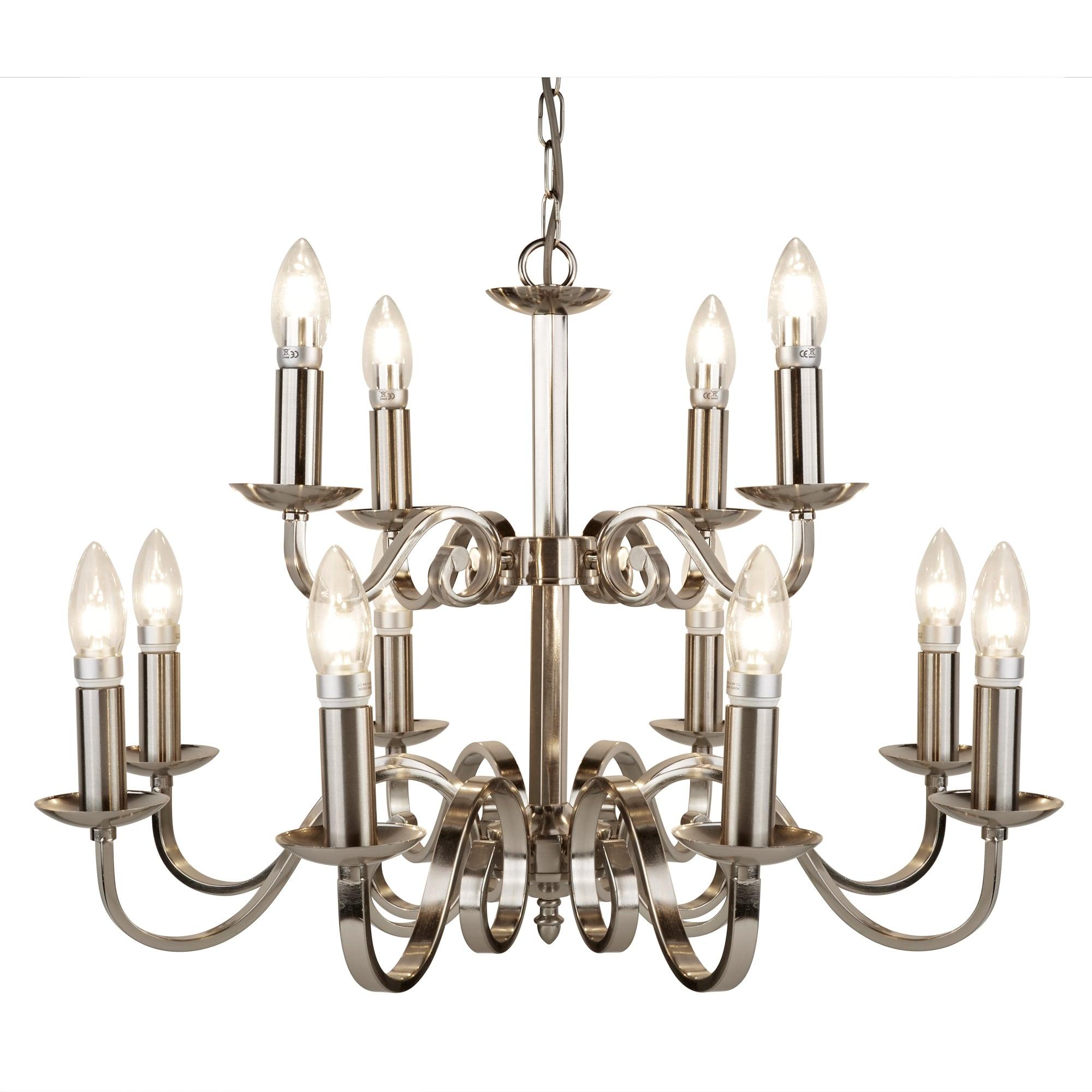 Richmond Antique Brass 5 Light Ceiling Pendant Chandelier Candle Style Sconces
