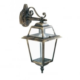 1522 New Orleans Black Gold Finish Wall Light