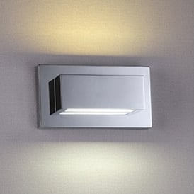 1752CC LED Up and Down Light Wall Fitting with Polished Chrome Finish and Acrylic Lens