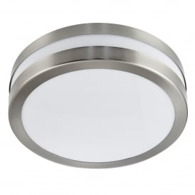 2 Light Flush Outdoor Ceiling/Wall Fitting In Stainless Steel Finish With Polycarbonate Diffuser