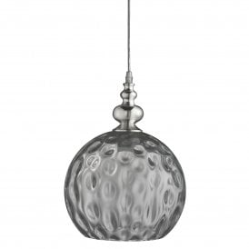2120SM Indiana Single Light Ceiling Pendant in Chrome Finish