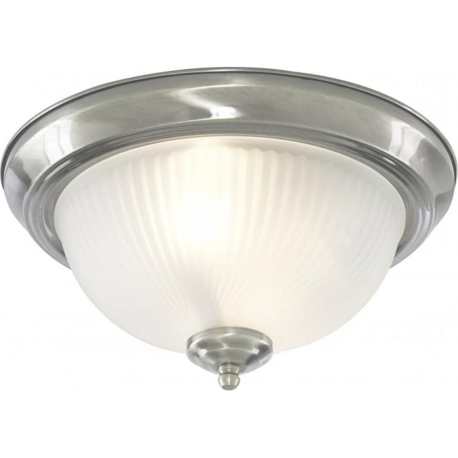 new products 51a3d 25bc2 Searchlight Lighting 4042 American Diner Flush 2 Light Ceiling Fitting in  Polished Chrome Finish