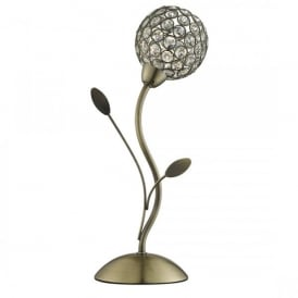 4571AB Bellis II Single Light Table Lamp In Antique Brass Finish