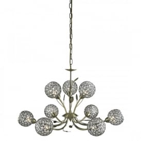 5579-9AB Bellis II 9 Light Ceiling Pendant In Antique Brass Finish