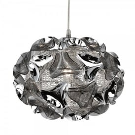 5801-1SM Triangle Single Light Mesh Ceiling Pendant with Polished Chrome and Smoked Acrylic Detail