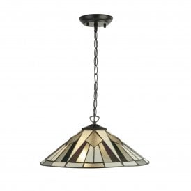 6072-42 Gatsby 2 Light Tiffany Ceiling Pendant