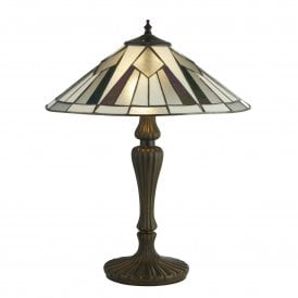 6073-42 Gatsby 2 Light Large Tiffany Table Lamp with Resin Base