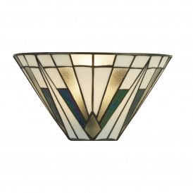 6074-1 Gatsby Single Light Tiffany Wall Fitting