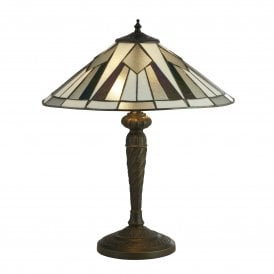 6075-42 Gatsby 2 Light Medium Tiffany Table Lamp