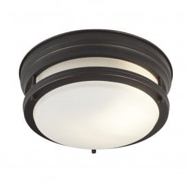 6142-2BR Bathroom 2 Light Ceiling Fitting in Bronze Finish