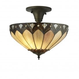 6701-40 Pearl 3 Light Tiffany Ceiling Fitting