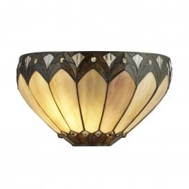 6704-1 Pearl Single Light Tiffany Wall Fitting