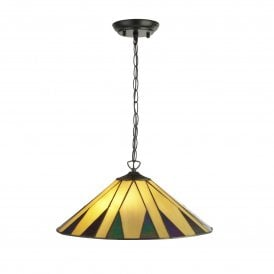 7062-42 Charleston 2 Light Tiffany Ceiling Pendant