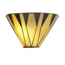 7064-1 Charleston Single Light Tiffany Wall Fitting