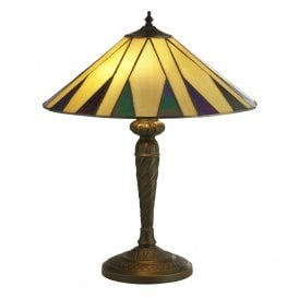 7066-42 Charleston 2 Light Tiffany Table Lamp