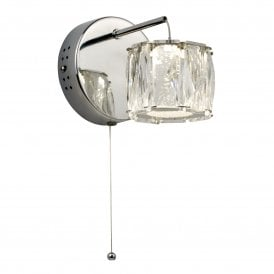 7763CC Maxim Single LED Integrated Wall Light in Polished Chrome