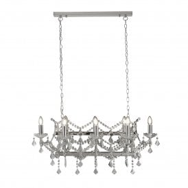 8068-8CC Florence 8 Light Ceiling Pendant in Polished Chrome Finish