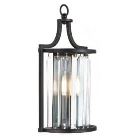 8571BK Victoria Single Light Wall Fitting in Black Finish