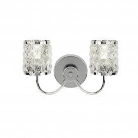 8782-2CC Royal 2 Light Bathroom Wall Fitting in Polished Chrome Finish