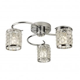 8783-3CC Royal 3 Light Bathroom Ceiling Fitting in Polished Chrome