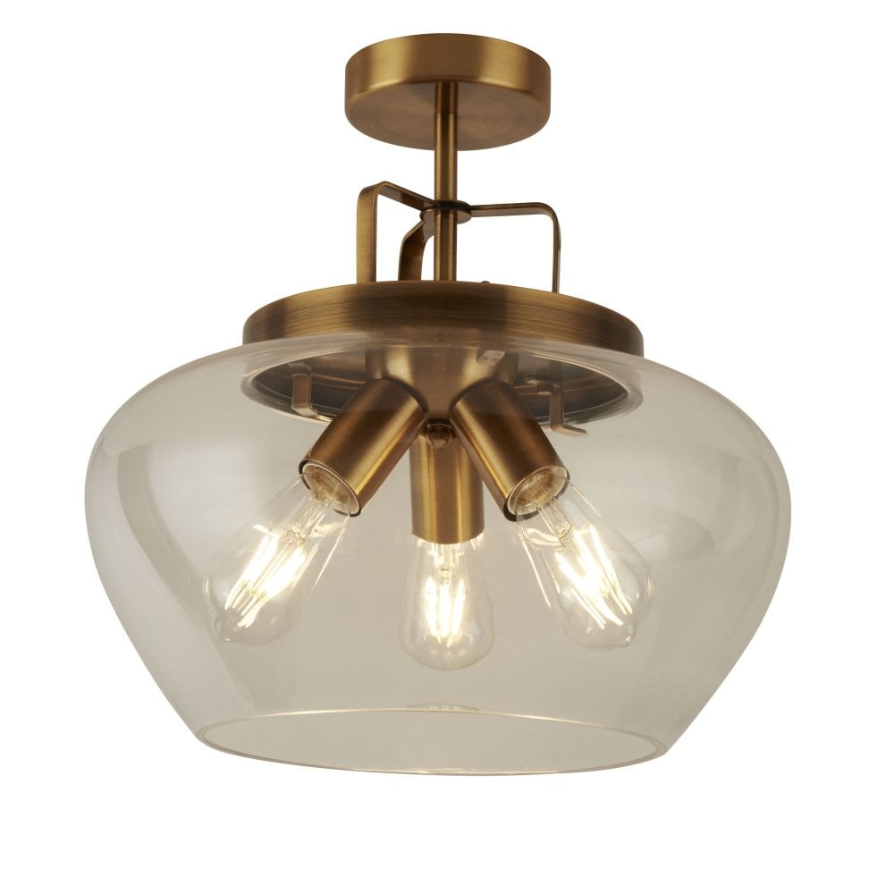 Searchlight lighting 8973 3bz boule 3 light ceiling fitting in bronze finish
