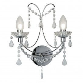 9037-2CC Autumn 2 Light Wall Fitting in Polished Chrome
