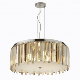 9835-5CC Clarissa 5 Light Ceiling Pendant in Polished Chrome Finish