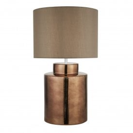 Artisan Single Light Table Lamp in Bronze Finish