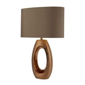 Artisan Single Light Table Lamp with Bronze Finish