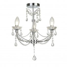 Autumn 3 Light Ceiling Fitting in Polished Chrome Finish