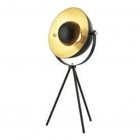 Blink Single Light Tripod Table Lamp in Black Finish