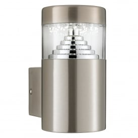 Brooklyn Stainless Steel LED Outdoor Wall Fitting With Clear Diffuser