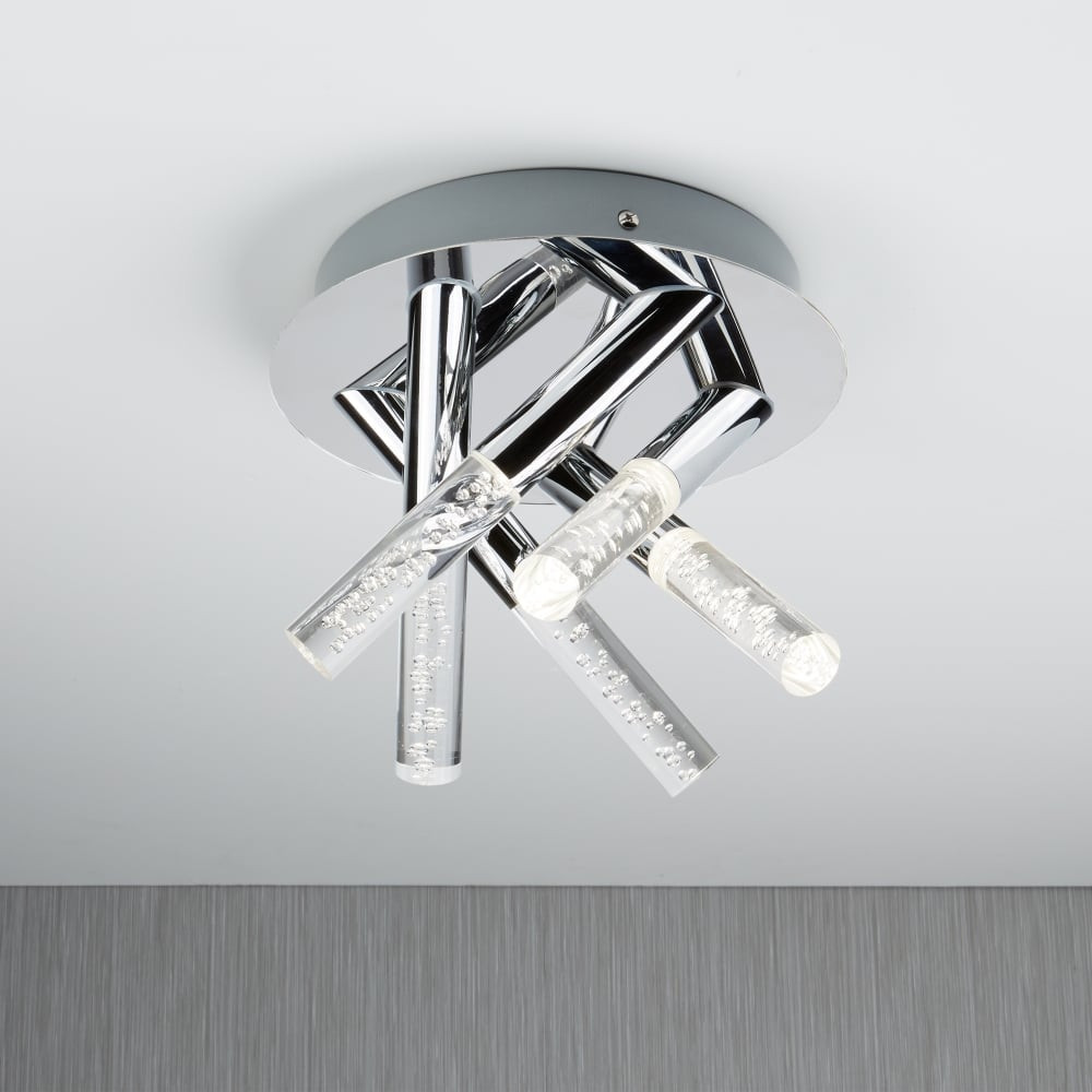 Searchlight Lighting Bubbles 5 Light Bathroom Flush ...