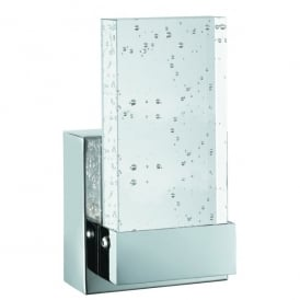 Bubbles LED Bathroom Wall Fitting in Polished Chrome And Clear Glass Finish