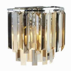 Clarissa 2 Light Wall Fitting in Polished Chrome Finish