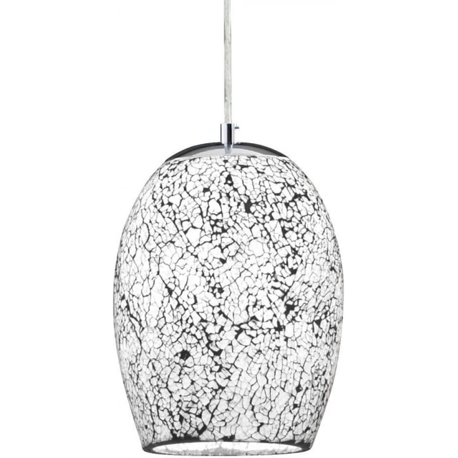 Searchlight lighting crackle single light ceiling pendant with white crackle single light ceiling pendant with white mosaic glass aloadofball Images