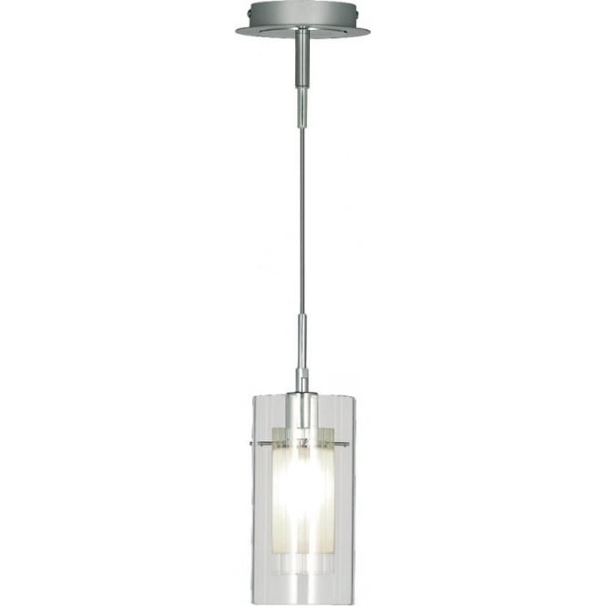 Searchlight lighting duo 1 chrome and frosted glass pendant duo 1 chrome and frosted glass pendant aloadofball Choice Image
